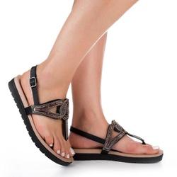 Sandália Esporão e Fascite - Preta - DAZ6922PT - Pé Relax Sapatos Confortáveis