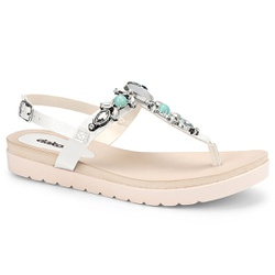 Sandália Esporão e Fascite - Branco - DAZ8001-0001BR - Pé Relax Sapatos Confortáveis