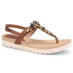 Sandália Esporão e Fascite - Conhaque - DAZ8001-0005CO - Pé Relax Sapatos Confortáveis