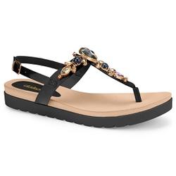 Sandália Esporão e Fascite - Preto - DAZ8001-0006PT - Pé Relax Sapatos Confortáveis
