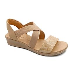 Sandália Confortável para Esporão e Fascite - Bege - PR10062BG - Pé Relax Sapatos Confortáveis