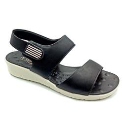 Sandália Feminina para Esporão e Fascite - Preto - PR10098PR - Pé Relax Sapatos Confortáveis