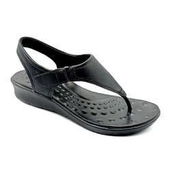 Sandália Especial para Esporão e Fascite - Preto - PR10119PR - Pé Relax Sapatos Confortáveis