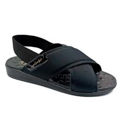 Sandália para Senhoras Esporão e Fascite - Preto - PR14031PR - Pé Relax Sapatos Confortáveis