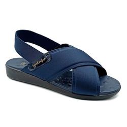 Sandália para Senhoras Esporão e Fascite - Azul Noturno - PR14031AZ - Pé Relax Sapatos Confortáveis
