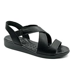 Sandália Especial para Fascite e Esporão - Preto - PR14034PR - Pé Relax Sapatos Confortáveis