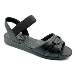 Sandália Feminina Especial para Esporão e Fascite - Preto - PR14074PR - Pé Relax Sapatos Confortáveis