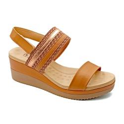 Sandália Anabela Ultra Conforto - Ambar - PR581091FAM - Pé Relax Sapatos Confortáveis