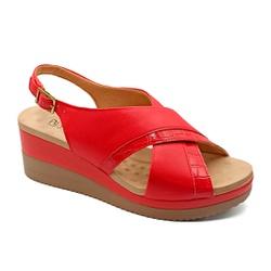 Sandália Anabela Confortável - Campari - PR581092FCA - Pé Relax Sapatos Confortáveis