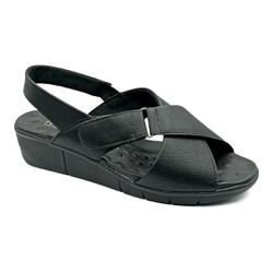 Sandália Confortável para Esporão e Fascite - Preto - PR585004PR - Pé Relax Sapatos Confortáveis