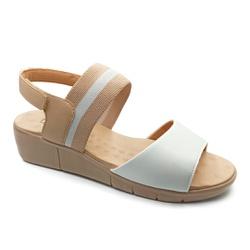 Sandália Feminina para Fascite e Esporão - Branco - PR585059BR - Pé Relax Sapatos Confortáveis