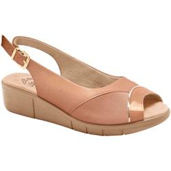 Sandália Feminina Para Joanete e Esporão- Cobra Pele / Lycra Choco - MA585013PL - Pé Relax Sapatos Confortáveis