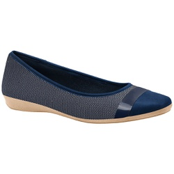 Sapatilha Super Leve Joanete - Azul - MA861001AZ - Pé Relax Sapatos Confortáveis
