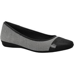 Sapatilha Super Leve Joanete - Preta / Branca - MA861001PT - Pé Relax Sapatos Confortáveis