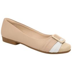 Sapatilha Confortável - Bege - PI250173BE - Pé Relax Sapatos Confortáveis