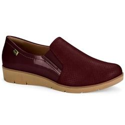 Sapato Casual para Esporão e Fascite Plantar - Rubro - CAL6552-0004RU - Pé Relax Sapatos Confortáveis