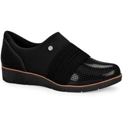 Sapato Casual para Esporão e Fascite Plantar - Preto - CAL6554-0004PT - Pé Relax Sapatos Confortáveis