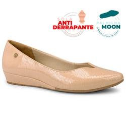 Sapatilha Confortável Feminina - Avelã Macau - CAL7301AV - Pé Relax Sapatos Confortáveis