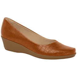 Sapato Feminino para Esporão de Calcâneo - Ocre - PI143133OC - Pé Relax Sapatos Confortáveis