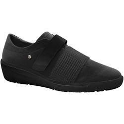 Tênis Fascite Plantar com Velcro - Preto / Sola Preta - MA859003PT - Pé Relax Sapatos Confortáveis