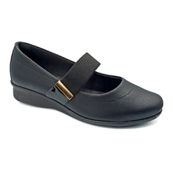 Sapato Boneca Especial para Esporão e Fascite - Preto - PR302049PR - Pé Relax Sapatos Confortáveis