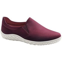 Sapatilha Confortável Feminina - Borgonha - MA421036BO - Pé Relax Sapatos Confortáveis