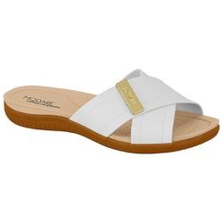Tamanco para Esporão e Fascite - Branco - MO7125-219BR - Pé Relax Sapatos Confortáveis