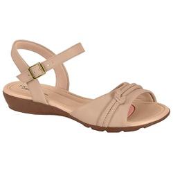 Sandália para Esporão e Fascite - Bege - MO7127-234BG - Pé Relax Sapatos Confortáveis