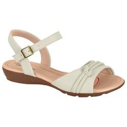 Sandália para Esporão e Fascite - Branco - MO7127-234BR - Pé Relax Sapatos Confortáveis