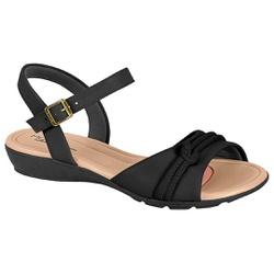 Sandália para Esporão e Fascite - Preta - MO7127-234PT - Pé Relax Sapatos Confortáveis
