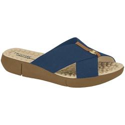 Tamanco Confortável Feminino - Azul - MO7142-101AZ - Pé Relax Sapatos Confortáveis