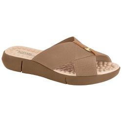 Tamanco Confortável Feminino - Bege - MO7142-101BE - Pé Relax Sapatos Confortáveis