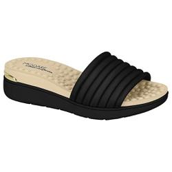 Tamanco Feminino para Esporão e Fascite - Preto - MO7151-100PT - Pé Relax Sapatos Confortáveis