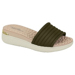 Tamanco Feminino para Esporão e Fascite - Oliva - MO7151-100OL - Pé Relax Sapatos Confortáveis