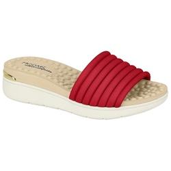 Tamanco Feminino para Esporão e Fascite - Vermelho - MO7151-100VM - Pé Relax Sapatos Confortáveis