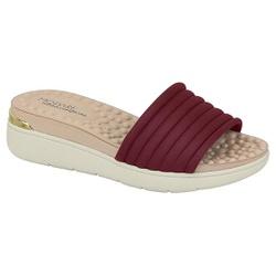 Tamanco Feminino para Esporão e Fascite - Vinho - MO7151-100VI - Pé Relax Sapatos Confortáveis