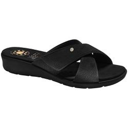 Tamanco para Pés Largos e Fascite Plantar - Preto - MA10075PT - Pé Relax Sapatos Confortáveis