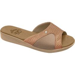 Tamanco Joanete e Esporão - Cobra Gloss Tan - MA14039SCGT - Pé Relax Sapatos Confortáveis