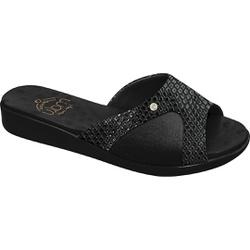 Tamanco Joanete e Esporão - Cobra Gloss Preto - MA14039CGP - Pé Relax Sapatos Confortáveis