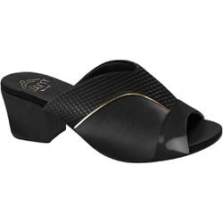 Tamanco Confortável para Joanete - Nassau / Snake Preto - MA176084 - Pé Relax Sapatos Confortáveis