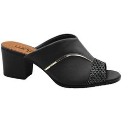 Tamanco Confortável para Joanete - Cobra Gloss / New Mestiço Preto - MA176103FPT - Pé Relax Sapatos Confortáveis