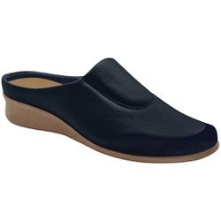Babuche Feminino para Joanete e Esporão - Azul / Sola Crepe - MA302008AZ - Pé Relax Sapatos Confortáveis