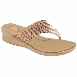 Chinelo para Esporão e Fascite - Escama Cobre - MA10007NEC - Pé Relax Sapatos Confortáveis