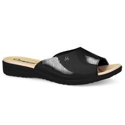 Tamanco Feminino Esporão - Macau Preto - CAL6811PT - Pé Relax Sapatos Confortáveis
