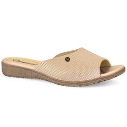 Tamanco Feminino Confort - Caimi Creme - CAL6811CC - Pé Relax Sapatos Confortáveis