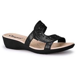 Tamanco Feminino Esporão - Preto - CAL7087PT - Pé Relax Sapatos Confortáveis