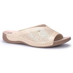 Tamanco Feminino para Esporão e Fascite Plantar - Creme - CAL7251-0001CR - Pé Relax Sapatos Confortáveis