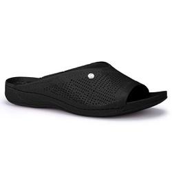 Tamanco Feminino para Esporão e Fascite Plantar - Preto - CAL7251-0002PT - Pé Relax Sapatos Confortáveis