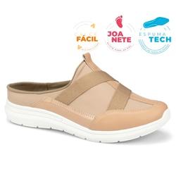 Mule Esportivo para Esporão e Fascite - Manila Bege - CAL7325MB - Pé Relax Sapatos Confortáveis