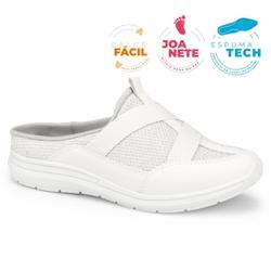 Mule Esportivo para Esporão e Fascite - Branco - CAL7325-0002BR - Pé Relax Sapatos Confortáveis